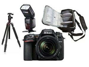 D7500 DSLR Camera + AF-S 18-140mm VR + KamKorda Pro Camera Bag + Pro Speedlite Flash + Advanced Camera Tripod