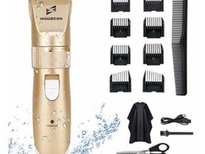 Komake Hair Clippers,Professional Cordless Clippers Hair Trimmer Beard Shaver Electric Haircut Kit Waterproof USB Rechargeable Beard Trimmer for Men Kids and Family with 8 Guide Combs/Hairdresser Set