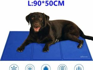 Lauva Pet Dog Cooling Mat , Dogs Self-Cooling Gel Pads Ice Cool Mat Large Activated Summer Bed Sleeping Mattress Cushions Non-Toxic for People Dogs Puppy Cats Home Travel & Cars–36″ X 20″-XL,Blue