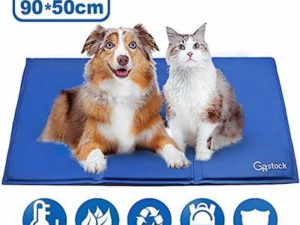 GoStock Dog Cooling Mat, Pet Cooling Mat Non-Toxic Gel Self Cooling Pad for Dogs and Cats Pet Ice Mat Dog Cool Pad for Crates, Kennels and Beds(36″ X 20″(90 * 50cm))