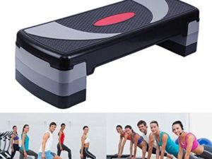 Yonntech 80cm Step Board Aerobic Step with 3 Adjustable Step Levels Stepper Exercise Stepper for Home Gym and Fitness Training Yoga Sport workout board (80cm)