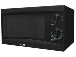 Akai Manual Microwave with 6 Power Levels, 30 Minute Timer, Convenient Child-Lock, 800 W,  20 Litre, Black