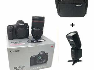 5D Mark IV DSLR Camera + EF 24-105mm f/4L IS II USM lens with KamKorda Pro Camera Bag + Speedlite Flash