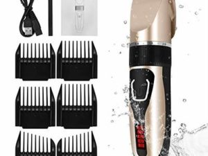 ELOKI Professional Hair Clippers for Men Kids, Cordless and Waterproof Hair Clippers, Professional USB Rechargeable Hair Shaver with 6 Clippers, Cleaning Brush(Shop: CFSD Direct)
