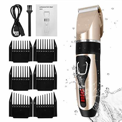 ELOKI Professional Hair Clippers for Men Kids Birthday Father's Day Gifts, cordless and Waterproof hair clippers, Professional USB Rechargeable Hair Shaver with 6 Clippers, Cleaning Brush(CFSD Direct?
