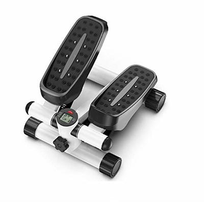 GHTY Stepper, Step Trainer Equipment Fitness Exercise Machine, Desk Pedal Exerciser with Unique Design, Comfortable Foot Pedals-Black