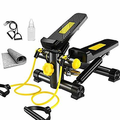 N-A Stepper, Lateral Side Stepper Fitness Machine Incl Resistance Bands And Carpet,Fitness Exercise Machine Mini Stepper, Legs Arm Thigh Exerciser Fitness Full Body Workout