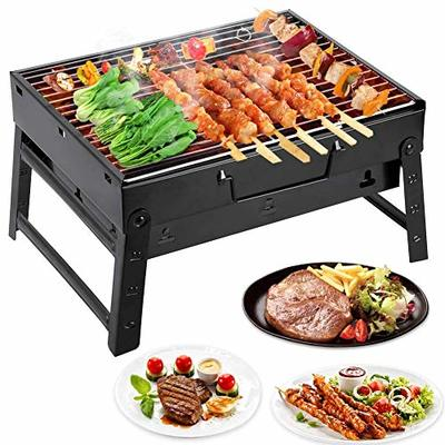 ZOGIN BBQ Grill, Portable Barbecue Grill for 3-5 Persons, Big Size (35x27x20 cm) Charcoal bbq for Table Camping Outdoor Garden Grill BBQ Utensil
