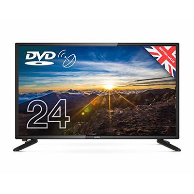 Cello 24″ inch ZSF0242 LED TV/DVD HD Ready and Built In Satellite 2020 Model Made In The UK (New 2020 Model),Black