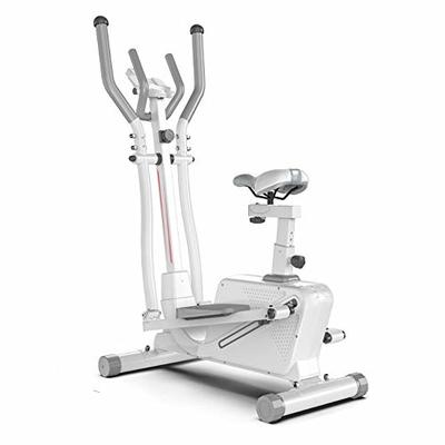 CaoQuanBaiHuoDian Stable Cross Trainer Standard Stride Elliptical Exercise Cross Trainer Machine for Fitness Strength Conditioning Workout Comfortable Experience (Color : White, Size : 152x92x50cm)