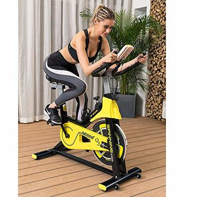 Lifetech Upright Exercise Bike Cycling Spinning Fitness Indoor Stationary, Adjustable Handlebars & Seat & Resistance, 6-Function Monitor, Studio Cycles Aerobic Training, Flywheel,Home Office Use