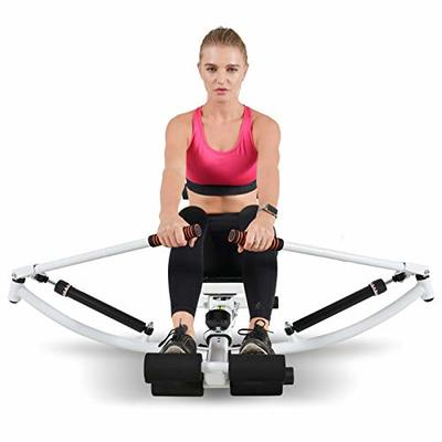Ydshyth Rowing Machine for Home Gym Hydraulic Foldable Silent LCD Display Slope Adjustment Knob Indoor Fitness Equipment for Home Gym Living Room Office