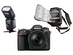D500 DSLR Camera + AF-S DX NIKKOR 16-80mm f/2.8-4E ED VR + KamKorda Pro Camera Bag + Speedlite Flash