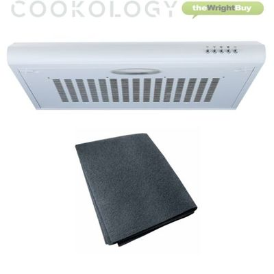 Cookology VISOR600WH 60cm Visor Cooker Hood | Extractor Fan in White & Filter
