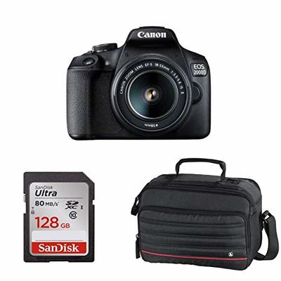 Eos 2000d with 18-55mm IS II +64gb sd Card + Case – Canon