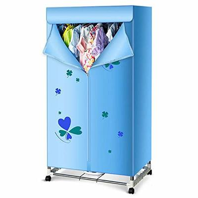 AXDNH 1000W Energy Saving Clothes Dryer, Household Double Layer Multi-Function Dryer Stainless Steel Clothing Sterilization Drying Wardrobe for All Fabrics