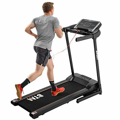 Smarttech Electric Treadmill for Home Incline – Electric Treadmill Hydraulic Folding Motorized Running Machine/Office Use – 3-level adjustable manuel – USB & MP3-12.5KM/H – 12 Pre-Programs