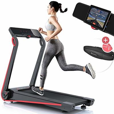 Sportstech F17 treadmill model 2020 – German Quality Brand + Video Events & Multiplayer App – NEW console – | 2,5HP to 12km/h | running machine with 13 programs, incline + foldable, for cardio (F17)