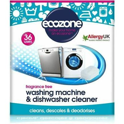 Ecozone Washing Machine & Dishwasher Cleaner Fragrance Free – 36 Tablets