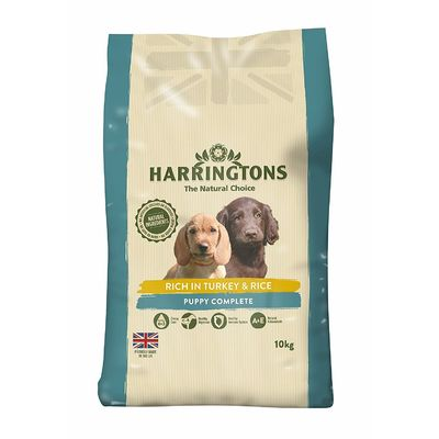 Harrington's Puppy Food Complete Rich In Turkey and Rice 10 Kg Free P&P NEW