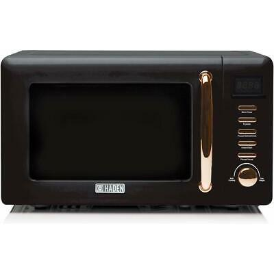 Haden Salcombe 800W Black & Copper Microwave 20L 2 Year Guarantee