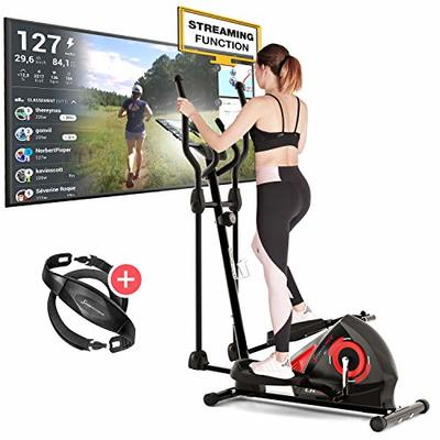 Sportstech CX608 Cross Trainer for Home | German Quality Brand | Video Events & Multiplayer App & Bluetooth Console | Elliptical with Pulse Belt for Endurance Training & Tablet Holder