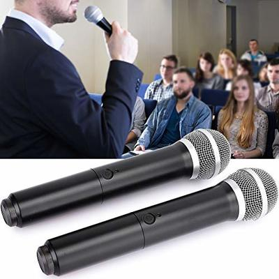 Vipxyc 2Pcs Microphone, plastic effectively avoid crosstalk for multiple users and practical