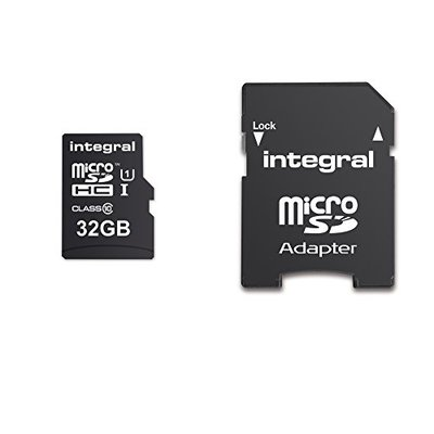 Integral INMSDH32G10-90U1 UltimaPro 32 GB MicroSDHC Class 10 Memory Card up to 90 MB/s, U1 Rating – Black