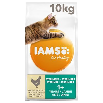 IAMS for Vitality Light in Fat Adult Fresh Chicken Dry Cat Food – 10kg