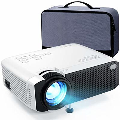 Projector APEMAN Mini Video Projector Portable 5500 Lumens Built-in Dual Speakers 50000 Hours Home Theater Support HD 1080P HDMI / USB / VGA / AV / Micro SD Including Bag
