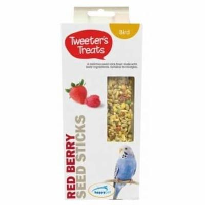 Tweeters Treats Seed Sticks for Budgies – Red Berry