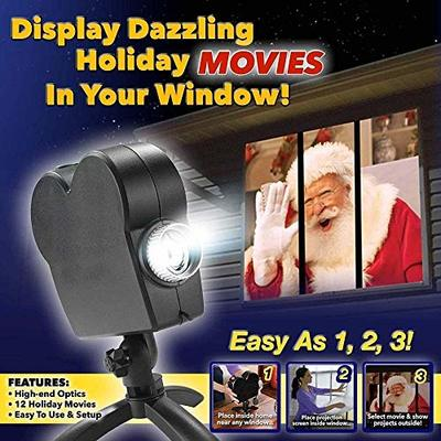 Christmas Halloween Holographic Projector, Window Projector 12 Film Festival Projector lamp Outdoor Indoor Decoration Christmas, Used for Holiday Party Decoration Wall Movement