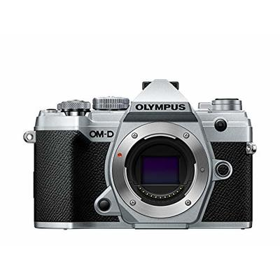 Olympus OM-D E-M5 Mark III Micro Four Thirds System Camera Housing, 20 MP Sensor, 5-Axis Image Stabilizer, Powerful Autofocus, Electronic OLED Viewfinder, 4K Video, Wi-Fi, Bluetooth, Silver