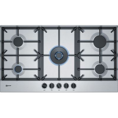 NEFF T29DS69N0 Gas Hob – Stainless Steel, Stainless Steel
