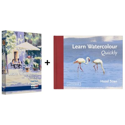 Learn Watercolour Quickly Book & DVD set with Hazel Soan