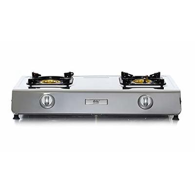 NJ NGB-200 Portable Gas Stove 2 Burner LPG Camping WOK Cooker 70cm Double Ring 7.2kW