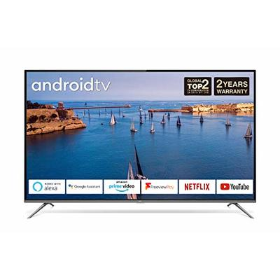 TCL 65EP658 65-Inch 4K Ultra HD Smart Android TV with Freeview Play, Prime Video, Netflix, YouTube, HDR10, Micro Dimming, Dolby Audio, Bluetooth, WiFi, 3*HDMI, 2*USB, Slim Design – Black