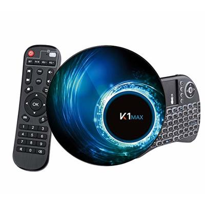 Android 10.0 TV box [4G + 32G] with Mini Keyboard RK3318 quad-core 64bit , Wi-Fi-Dual 5G / 2.4G, BT 4.0, 4K * 2K UHD H.265, USB 3.0 smart TV box