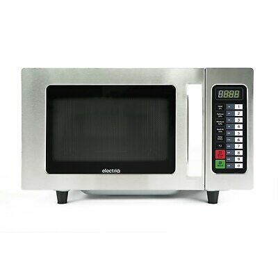 1000W ElectriQ Commercial Microwave Oven Stainless Steel Catering Auto