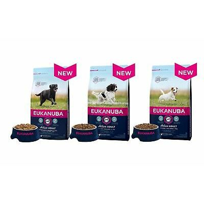 Eukanuba Active Adult Dry Dog Food Small/Medium/Large Breed With Chicken