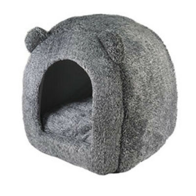 Rosewood Grey Teddy Bear Cat Bed 38cm/15″. Free Delivery BNWT