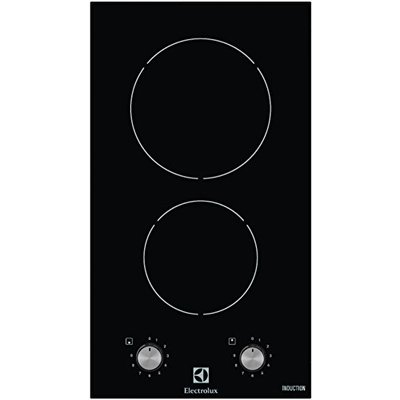 Electric induction hob with 2 heating fields EHH3920BVK