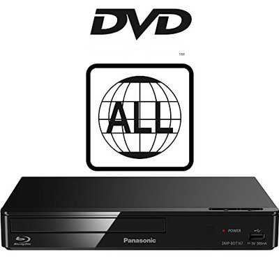 Panasonic DMP-BDT167EB-K Smart Blu-ray Player MULTIREGION for DVD