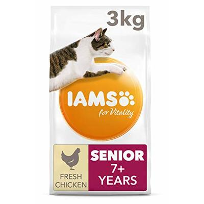 IAMS for Vitality Senior Dry Cat Food with Fresh Chicken, 3 kg